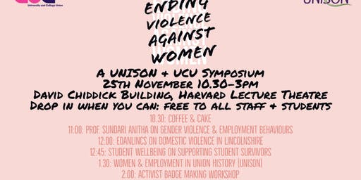 Ending Violence Against Women and Girls Conference (UNISON & UCU)