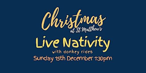 The Live Nativity With Donkey Rides at St Matthew's Croydon