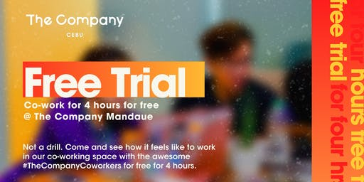 Co-work for Free | Mondays @ The Company Mandaue