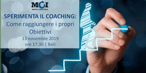 Sperimenta il Coaching: Come raggiungere i propri Obiettivi