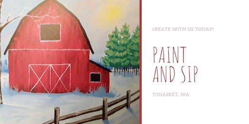 Paint and Sip Tea Tonasket: The Red Barn