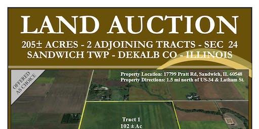 LAND AUCTION: 205+/- Acres Tillable Farmland - 2 Tracts - 139 PI