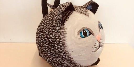 Paper Mache Art Class - Fat Cat Nov 12