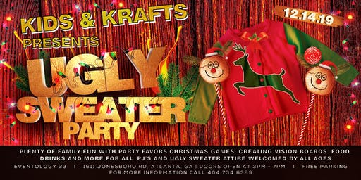 KIDS UGLY SWEATER CHRISTMAS PARTY
