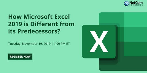 Webinar - How Microsoft Excel 2019 is Different from its Predecessors?