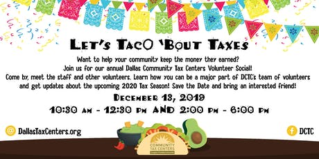 Let's TacO 'bout Taxes - 2020 - DCTC Annual Meet & Greet  tickets