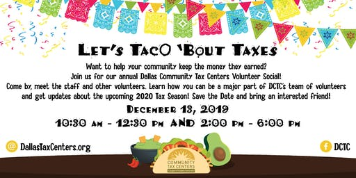 Let's TacO 'bout Taxes - 2020 - DCTC Annual Meet & Greet