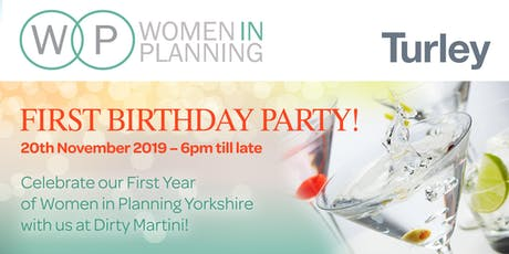 Women in Planning Yorkshire's 1st Birthday Party tickets