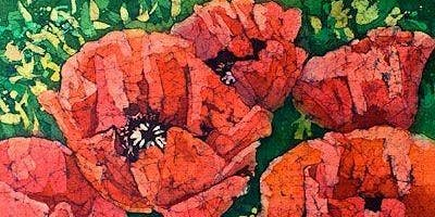 "Watercolour Art Class - ""Batik"" Poppies"
