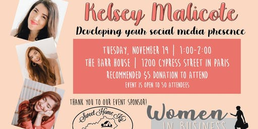 PBC Chamber Women in Business with Kelsey Malicote