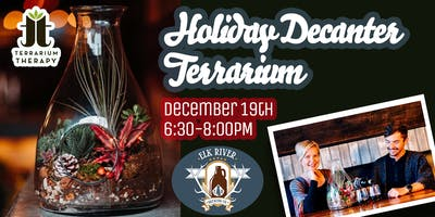 Holiday Decanter Terrarium at Elk River Brewing Company