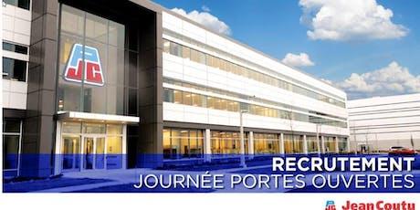 Portes ouvertes Groupe Jean Coutu - Recrutement commis d'entrepôt tickets