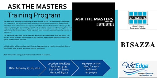 Ask The Masters - Hands on Tile Installation Training