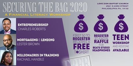 """""""Securing the Bag 2020"""" Financial Literacy Workshop tickets"""
