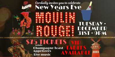 Moulin Rouge New Year's Eve Bash at Alibi Bar & Lounge