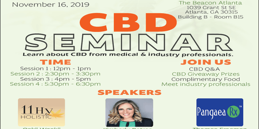 CBD SEMINAR - Discuss CBD with Medical & Industry Professionals