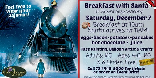 Breakfast on the Polar Express with Santa!