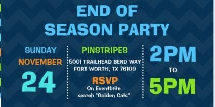 Golden Cats End of Season Party