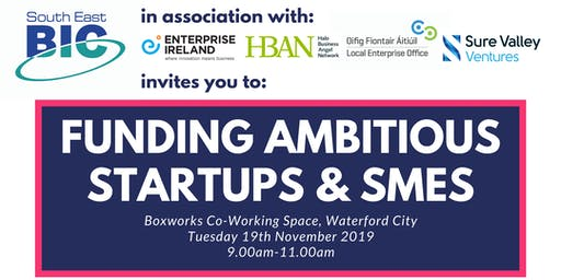 Funding Ambitious Startups & SMEs