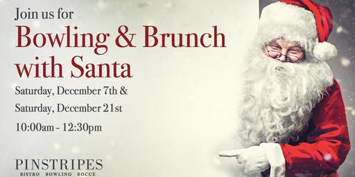 Bowling and Brunch with Santa at Pinstripes Orange Village