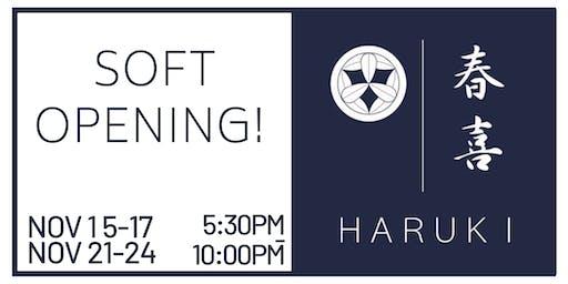 Haruki Ramen & Izakaya - Soft Opening!
