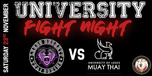 University Thai Boxing Fight Night