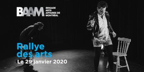 Rallye des arts BAAM 2020 billets