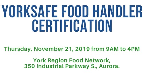 YorkSafe Food Handler Certification Training