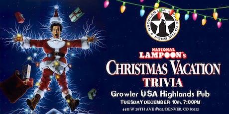 National Lampoon's Christmas Vacation Trivia at Growler USA Highlands Pub tickets