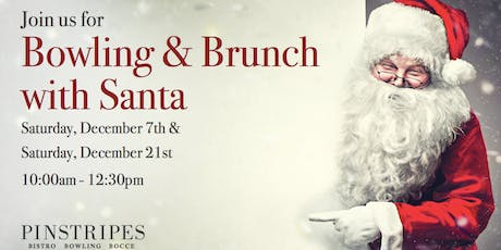 Bowling and Brunch with Santa at Pinstripes Orange Village tickets