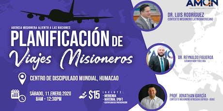 Planificación de Viajes Misioneros tickets