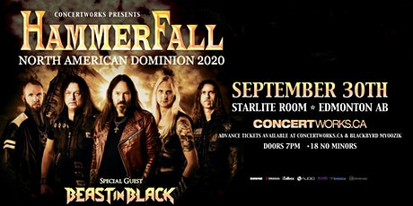 Hammerfall with Beast in Black & Edge of Paradise tickets