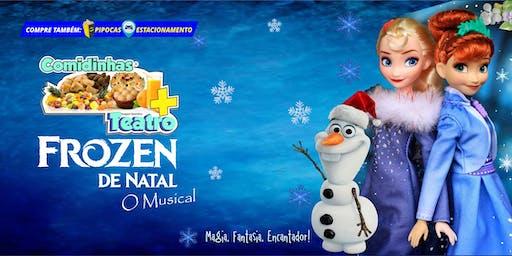 DESCONTO: Comidinhas + Teatro: Frozen de Natal, O Musical, no Teatro BTC