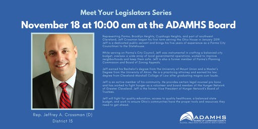 Meet Your Legislators Series November 18: Rep. Jeffrey A. Crossman