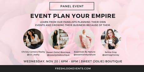 Event Plan Your Empire Panel Event tickets