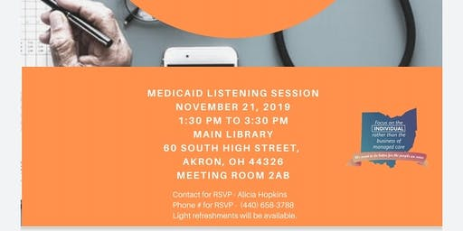 Akron Managed Care Procurement Medicaid  Session