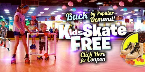 Kids Skate Free on Sunday 11/17/19 at 1:00pm (with this ticket)