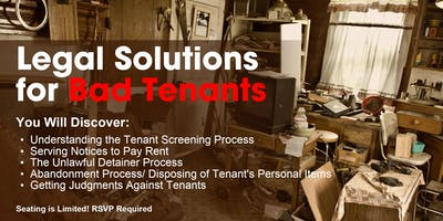 Legal Solutions for Bad Tenants (SC)