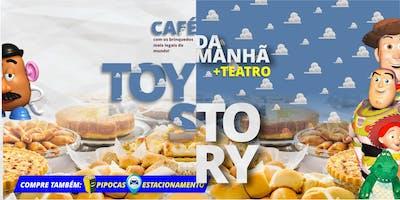 DESCONTO: CAFÉ DA MANHÃ + TEATRO: AMIGO ESTOU AQUI – O incrível mundo de Toy Story, no Teatro BTC