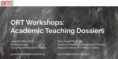 ORT Workshop: Academic Teaching Dossiers tickets