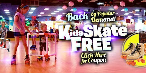 Kids Skate Free on Saturday 11/23/19 at 10am (with this ticket)