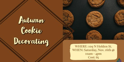 Autumn Cookie Decorating