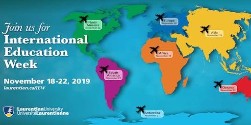 Laurentian International Education Week (November 18 - 22, 2019)