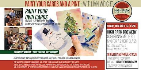 PAINT YOUR CARDS AND A PINT - with Ian Wright tickets