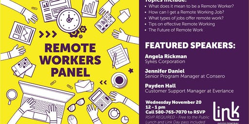 Remote Workers Panel and Q&A - Free Lunch Provided RSVP Required