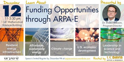 Advanced Research Projects Agency-Energy (ARPA-E) SEMINAR