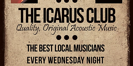 THE ICARUS CLUB - Acoustic singer songwriter session tickets