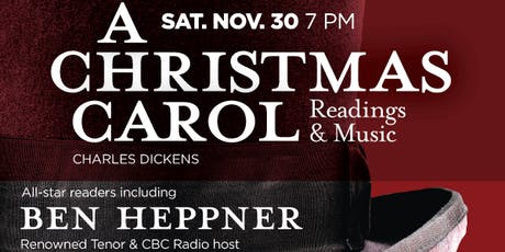 """Readings from Charles Dickens'  """"A Christmas Carol"""" tickets"""