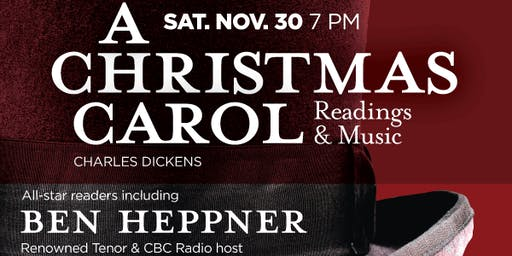 "Readings from Charles Dickens'  ""A Christmas Carol"""