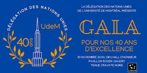 Gala de la 40e année | Délégation des Nations Unies de l'Udem